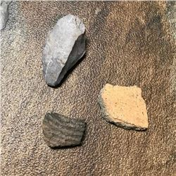 c.1400 AD Native-American Artifacts, Shards & Tool