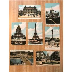 Group of Early 20thc Paris France Grand Tour Postcards