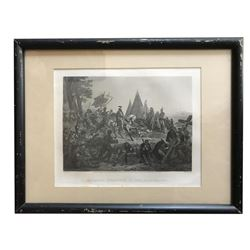 19thc De Soto's Discovery Of Mississippi Engraving