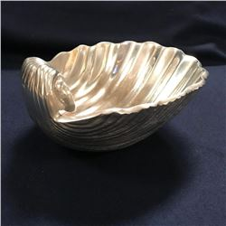 Pewter Clam Scallop Shell Serving Bowl Dish