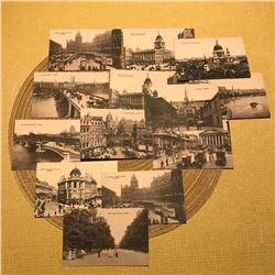 Early 1900's Edwardian, London England Sepia Grand Tour Postcards