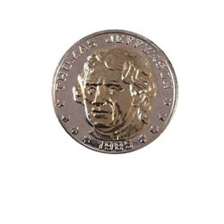 1985 Vintage Commemorative Thomas Jefferson Gold/silver