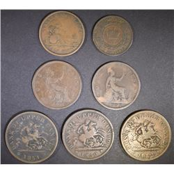 ASSORTED FOREIGN COPPER COINS