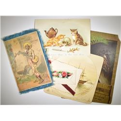 LATE 1800'S CHRISTMAS CARD LOT