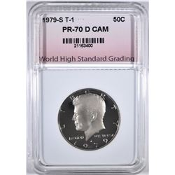 1979-S T-1 KENNEDY HALF, WHSG PERFECT GEM PR DCAM