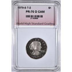 1979-S T-2 S.B.A. DOLLAR, WHSG PERFECT GEM PR DCAM