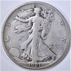 1921 WALKING LIBERTY HALF DOLLAR  VF