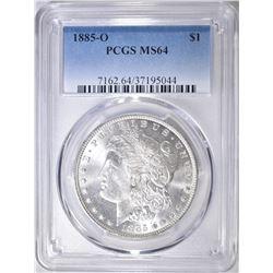 1885-O MORGAN DOLLAR  PCGS MS-64