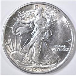 1917 WALKING LIBERTY HALF DOLLAR  CH/GEM BU