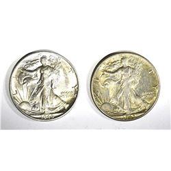 1- '45, 1- '45-S WALKING LIBERTY HALF DOLLARS