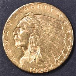 1925-D $2.5 GOLD INDIAN AU