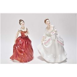 Two Royal Doulton figurines including Carol HN2961 and Innocence HN2842