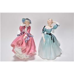 Two Royal Doulton figurines including Celeste HN2237 and Top o' the Hill HN1849