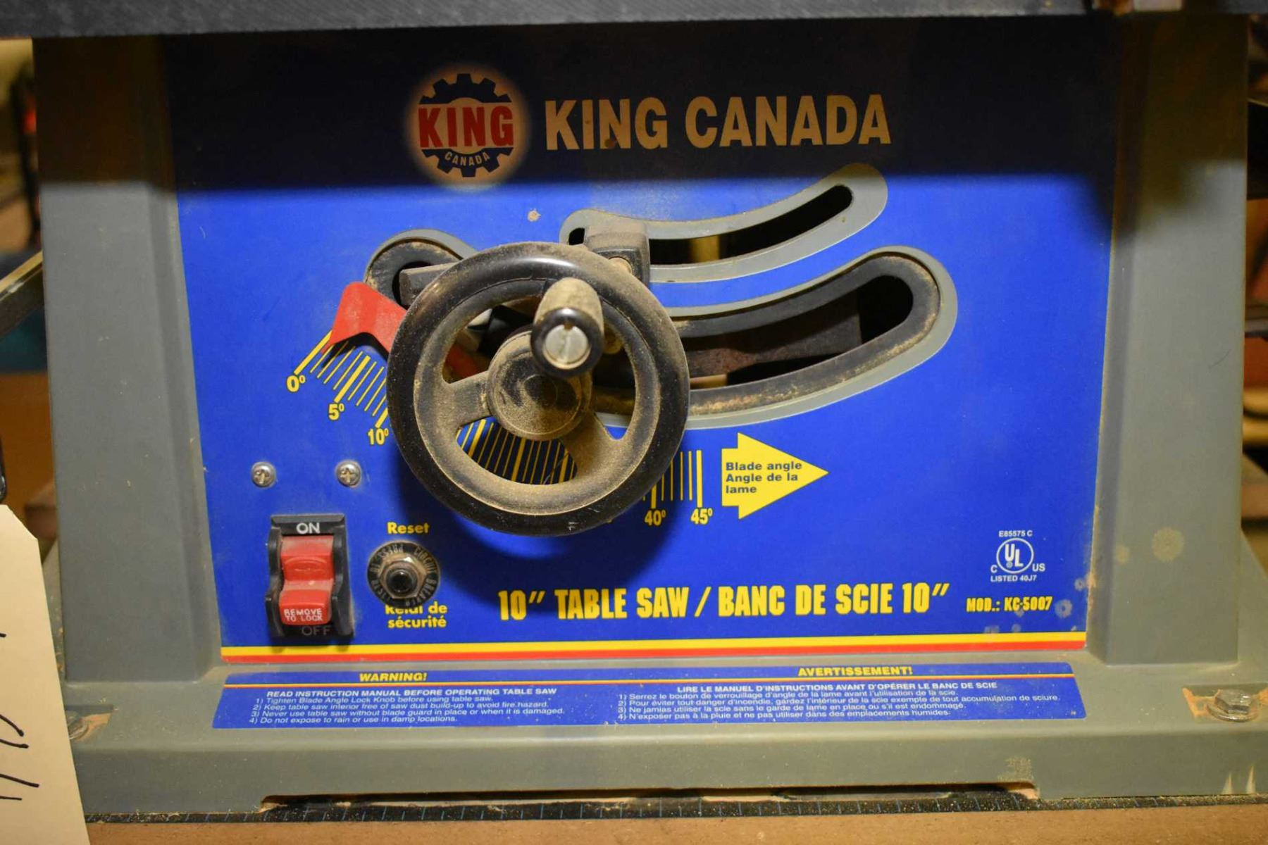 "Table Et Banc D Angle king canada 10"" table saw mounted to workmate style folding"