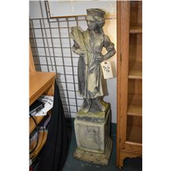 "Two piece Dickensen cement statue of a girl 45"" including base"