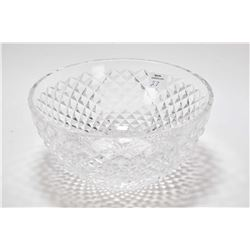 "Signed Waterford crystal bowl 8"" in diameter"