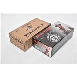 Two full 50 count boxes of Winchester .45 Colt including 100 Years of John Wayne 250 grain and Cowbo