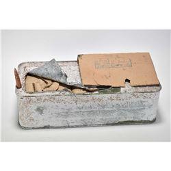 Tin box of 720 rounds of surplus 7.62 ammunition.