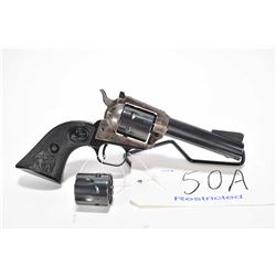 Restricted handgun Colt model New Frontier, .22 LR/.22 Mag 6 shot single action, w/ bbl length 112mm
