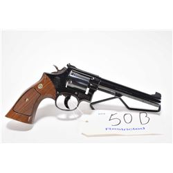 Restricted handgun Smith & Wesson model 14-3, .38 Special 6 shot double action revolver, w/ bbl leng