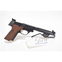 Restricted handgun High Standard model Supermatic Trophy, .22 LR 10 shot semi automatic, w/ bbl leng