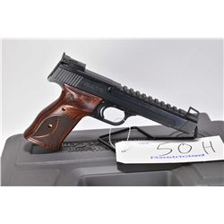 Restricted handgun Smith & Wesson model 41, .22 LR 10 shot semi automatic, w/ bbl length 140mm [Cust