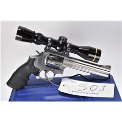 Restricted handgun Smith & Wesson model 686-6, .357 Magnum 6 shot double action revolver, w/ bbl len