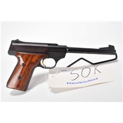 Restricted handgun Browning model Challenger II, .22 LR 10 shot semi automatic, w/ bbl length 172mm
