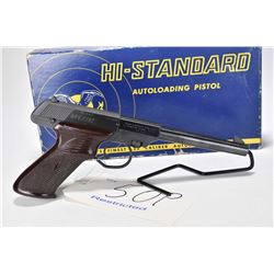 Restricted handgun High Standard model Dura-matic M101, .22 LR 10 shot semi automatic, w/ bbl length
