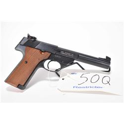 Restricted handgun High Standard model Sharpshooter-M, .22 LR 10 shot semi automatic, w/ bbl length