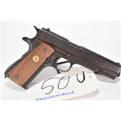 Restricted handgun Colt model M1911A1 US Army, .45 ACP 7 shot semi automatic, w/ bbl length 127mm [B