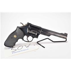 Restricted handgun Smith & Wesson model 19-5, .357 Magnum cal 6 shot double action revolver, w/ bbl
