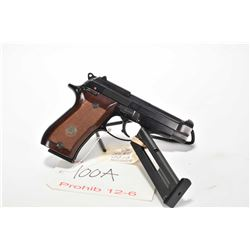 Prohib 12-6 handgun Beretta model 87 BB, .22 LR, mag fed 10 shot semi automatic, w/ bbl length 96mm