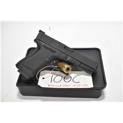Prohib 12-6 handgun Glock model 19, 9mm mag fed 10 shot semi automatic, w/ bbl length 102mm [Fixed f