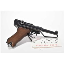 Prohib 12-6 handgun Luger model P.08 (S/42), 9mm 10 shot semi automatic, w/ bbl length 102mm [Blued