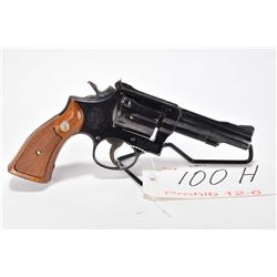 Prohib 12-6 handgun Smith & Wesson model 18-3, .22 LR 6 shot double action revolver, w/ bbl length 1
