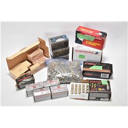 Large selection of .22 cal and .38 cal ammunition including four full 50 round Winchester .22 WRF in