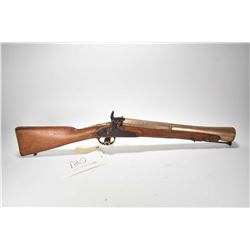 "Antique blunderbuss Spanish 10 ga. single shot pin fire, w/ bbl length 16"" [Heavy brass barrel with"