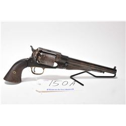 Restricted handgun CVA (Connecticut Valley A model Remington Model New Army, .44 Perc cal 6 shot sin