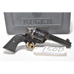 Restricted handgun Ruger model New Vaquero, .45 Colt 6 shot single action, w/ bbl length 117mm [blue