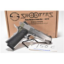Restricted pistol Shooters Arms model GI Commander-E 1911, .45 ACP mag fed 7 shot semi automatic, w/