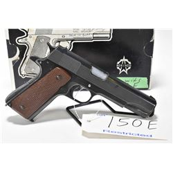 Restricted handgun Norinco model 1911A1, .45ACP mag fed 7 shot semi automatic, w/ bbl length 127mm [