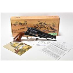 Restricted handgun Uberti model 1858 New Army Conversion, 44-40WCF cal 6 single action, w/ bbl lengt
