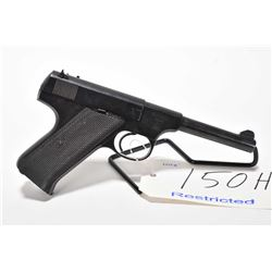 Restricted pistol Norinco model M93, .22LR cal mag fed 10 shot semi automatic, w/ bbl length 118mm [