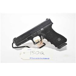 Restricted handgun Glock model 17, 9mm Luger, mag fed 10 semi automatic, w/ bbl length 110mm [Blued