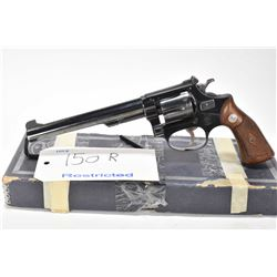Restricted handgun Smith & Wesson model 35 Target, .22 LR 6 shot double action revolver, w/ bbl leng