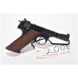 Prohib 12-6 handgun High Standard model H-D Military, .22 LR 10 shot semi automatic, w/ bbl length 8