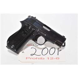 Prohib 12-6 handgun Unique model Military & Police (17), 7.65mm 9 shot semi automatic, w/ bbl length