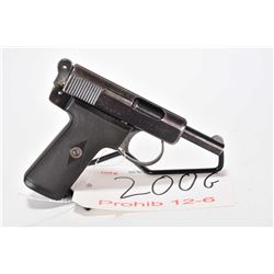 Prohib 12-6 handgun Webley & Scott model 1921, 7.65mm 8 shot semi automatic, w/ bbl length 89mm [Blu