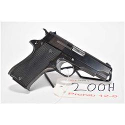 Prohib 12-6 handgun Star model BM, 9mm Luger 8 shot semi automatic, w/ bbl length 99mm [Blued finish